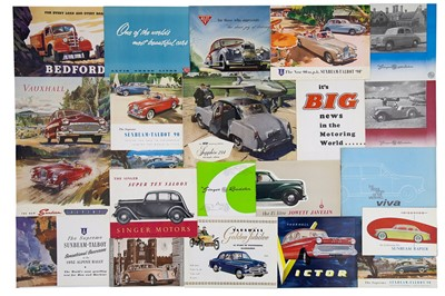 Lot 8 - Quantity of British Manufacturer Sales Brochures
