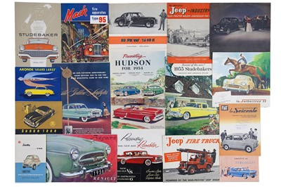 Lot 9 - Quantity of International Manufacturer Sales Brochures