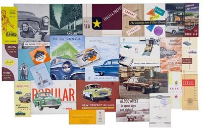 Lot 10 - Quantity of British Manufacturer Sales Brochures