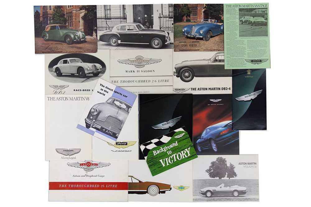 Lot 11 - Quantity of Aston Martin / Lagonda Sales Brochures