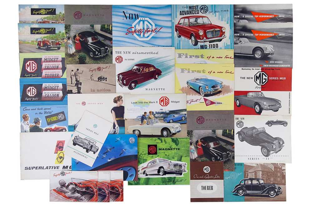 Lot 12 - Quantity of MG Sales Brochures