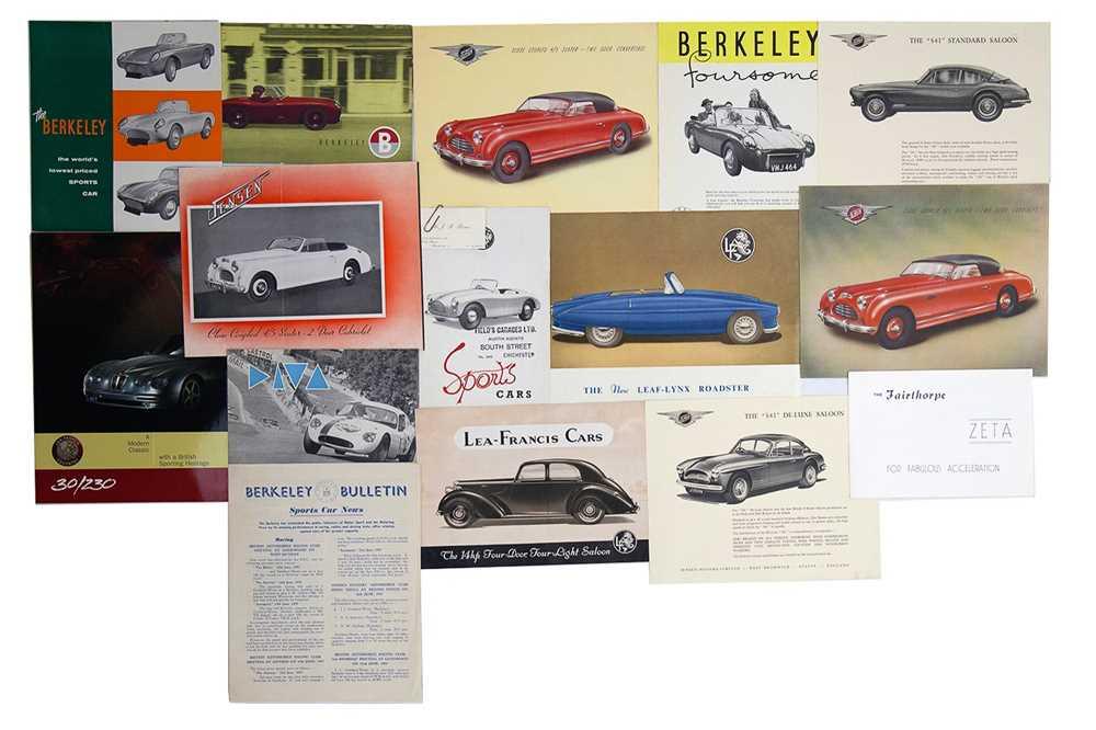 Lot 13 - Quantity of British Manufacturer Sales Brochures