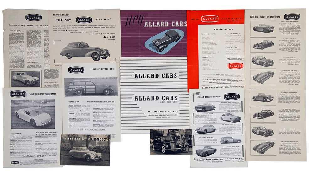 Lot 17 - Quantity of Allard Sales Brochures