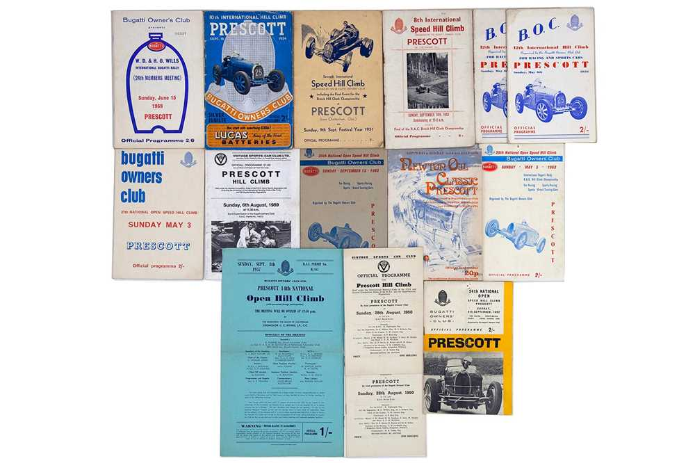Lot 18 - Quantity of Bugatti Owners Club / Prescott Speed Hillclimb Souvenir Programmes