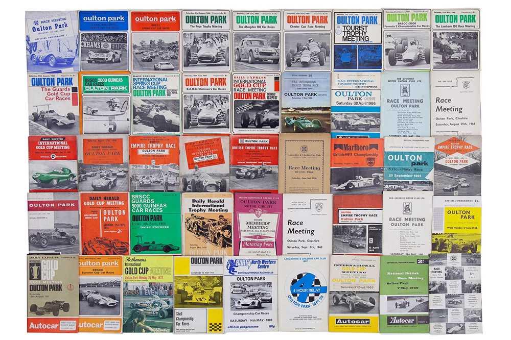 Lot 19 - Quantity of Oulton Park Race Meeting Souvenir Programmes