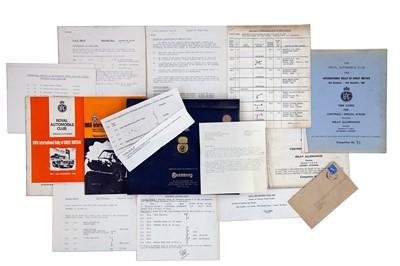 Lot 29 - RAC Rally of Great Britain Paperwork / Ephemera