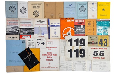 Lot 31 - Quantity of British Rallying Paperwork / Ephemera