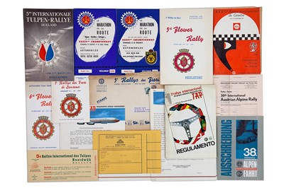 Lot 32 - Quantity of European Rallying Paperwork