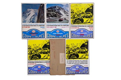 Lot 33 - Coupe Des Alpes Rally Paperwork