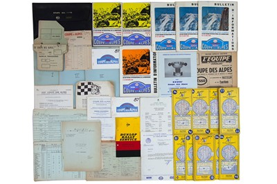 Lot 34 - Coupe Des Alpes Rally Paperwork / Ephemera