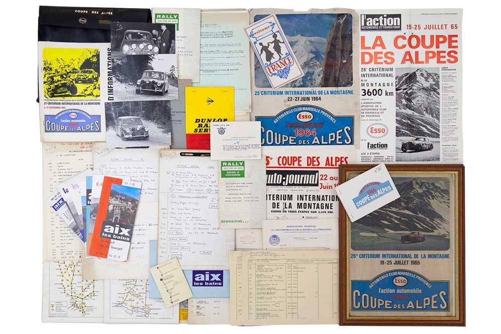 Lot 36 - Coupe Des Alpes Rally Paperwork / Ephemera