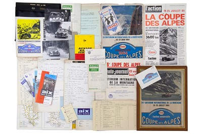 Lot 36 - Coupe Des Alpes Rally Paperwork / Ephemera
