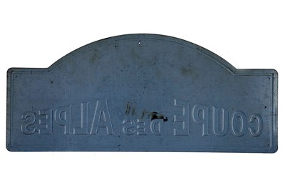 Lot 38 - Coupe Des Alpes Competitor Rally Plaque, 1967