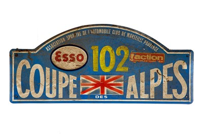 Lot 39 - Coupe Des Alpes Competitor Rally Plaque