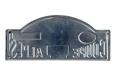 Lot 40 - Coupe Des Alpes Competitor Rally Plaque