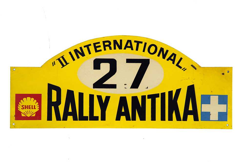Lot 41 - International Rally Antika Competitor Rally Plaque