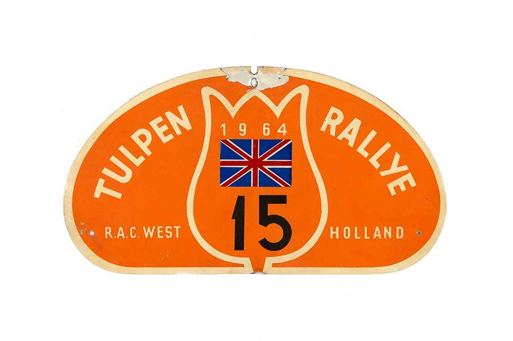 Lot 42 - Tulip Rally Competitor Plaque, 1964