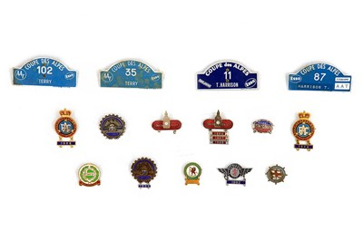 Lot 46 - Quantity of Rallying Competitor Lapel Badges