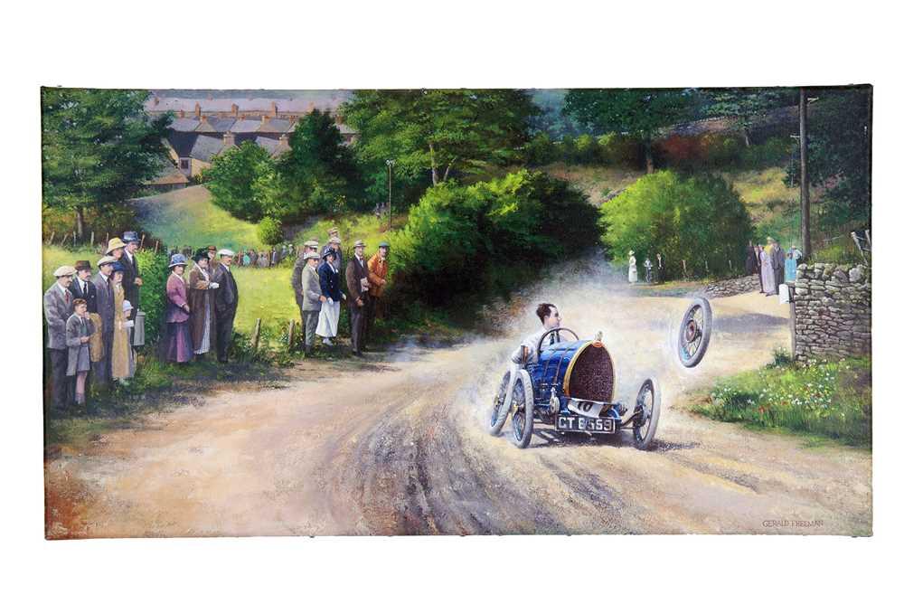 Lot 69 - Gerald Freeman Giclée Canvas Print - Raymond Mays and the Brescia Bugatti