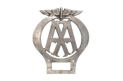 Lot 55 - Aluminium 'Automobile Association' Cast Sign