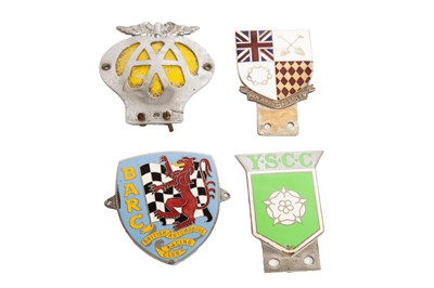 Lot 58 - Four Motorcar Club Badges