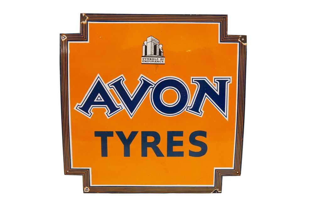 Lot 67 - Avon Tyres Enamel Sign