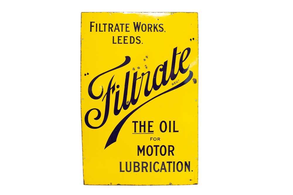 Lot 68 - Filtrate Oils Enamel Sign