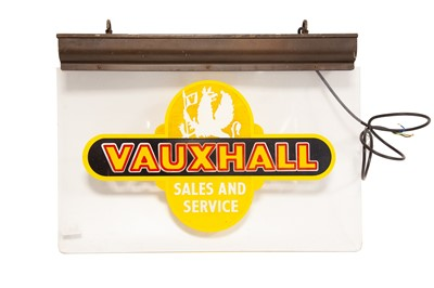 Lot 69 - Vauxhall 'Sales and Service' Illuminated Dealership Sign