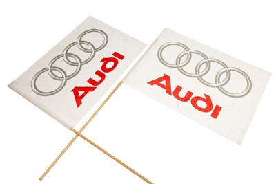 Lot 70 - Two Large Audi Dealership Flags