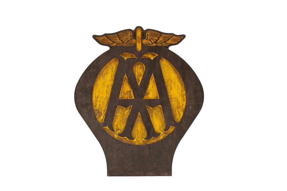 Lot 109 - AA 'Automobile Association' Garage Sign