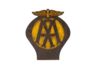 Lot 109 - AA 'Automobile Association' Garage Sign