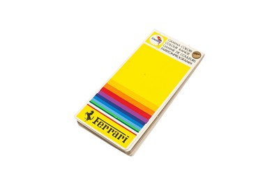 Lot 111 - Rare Ferrari Dealership Paint Colour Chart / Sample Swatch