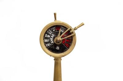 Lot 119 - A Large Bronze Marine Engine Order Telegraph