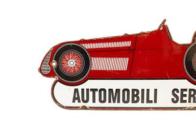 Lot 125 - A Rare Alfa Romeo 'Automobili Servizio' Pictorial Enamel Sign