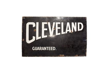 Lot 124 - 'Cleveland Guaranteed' Enamel Sign