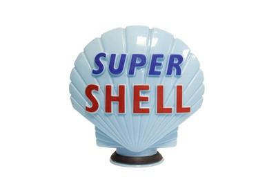 Lot 1 - Super Shell Glass Petrol Pump Globe