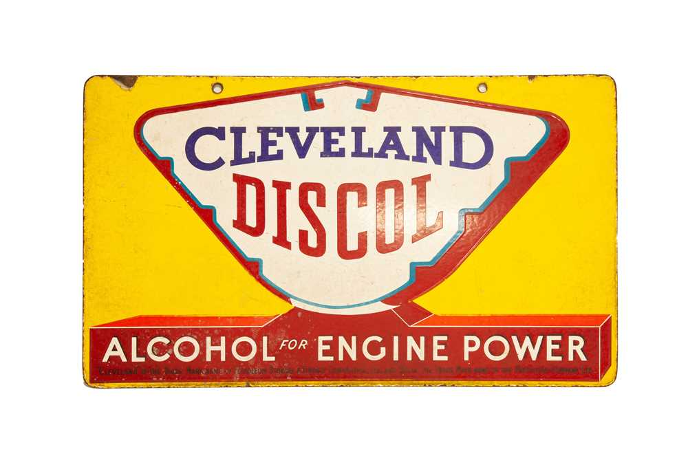 Lot 3 - Cleveland Discol Enamel Sign