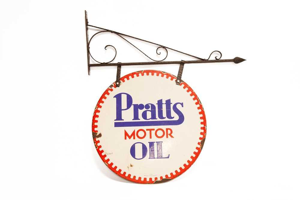 Lot 4 - Pratts Motor Oil Enamel Sign