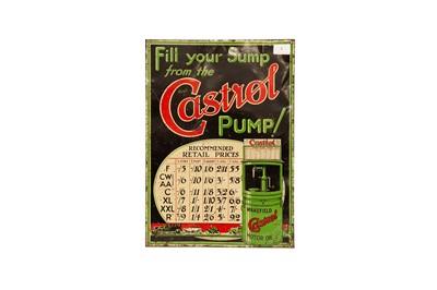 Lot 5 - Castrol Motor Oil Tin Advertising Sign