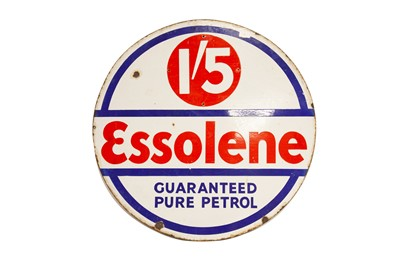 Lot 8 - Esso 'Essolene' Enamel Sign