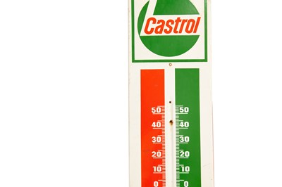 Lot 9 - Castrol Enamel Thermometer Sign