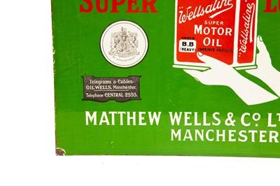 Lot 10 - Very Rare Wellsaline 'Super Lubricants' Enamel Sign