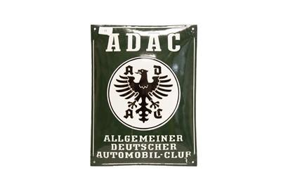 Lot 13 - ADAC Algemeiner Deutscher Automobil Club Enamel Sign