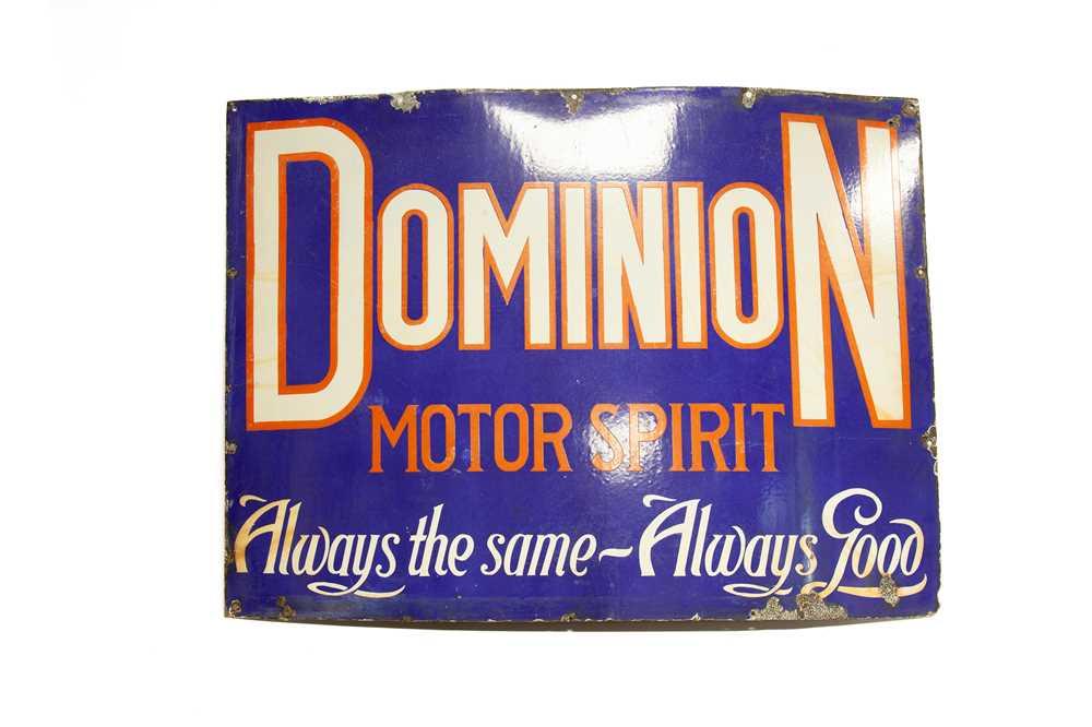 Lot 14 - A Large Dominion Motor Spirit Enamel Sign