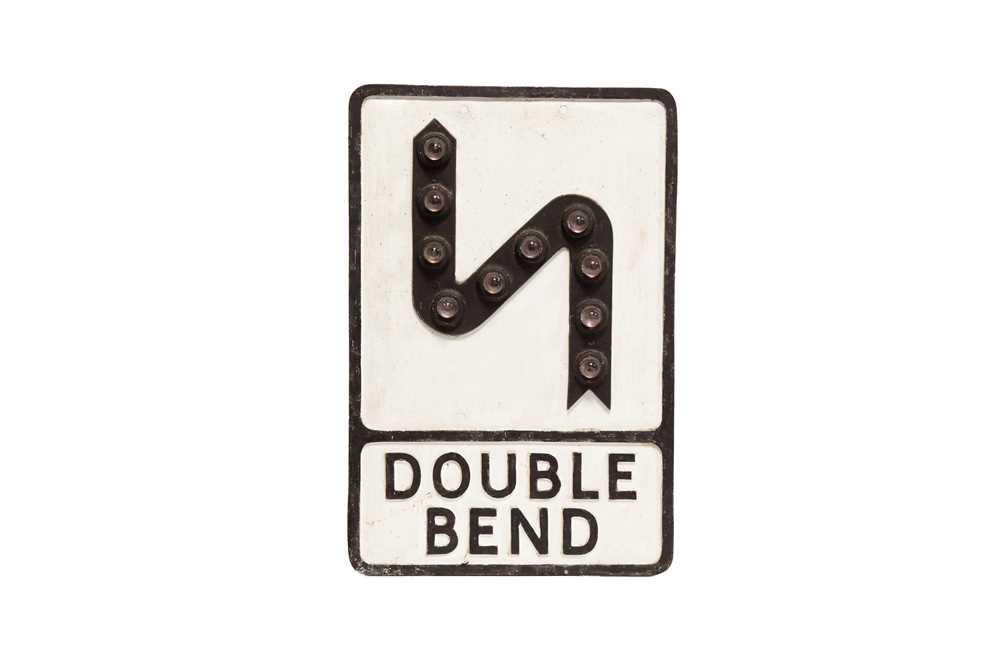 Lot 15 - 'Double Bend' Cast Road Sign