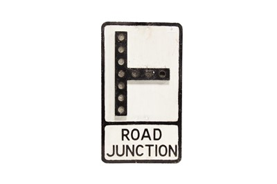 Lot 17 - 'Road Junction' Cast Aluminium Road Sign