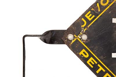 Lot 18 - 'Jevons Automatic Petrol Service' Enamel Sign