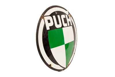 Lot 24 - Puch Enamel Advertising Sign