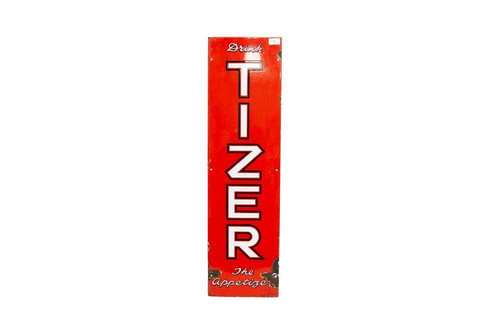 Lot 26 - 'Drink Tizer - The Appetizer' Enamel Sign