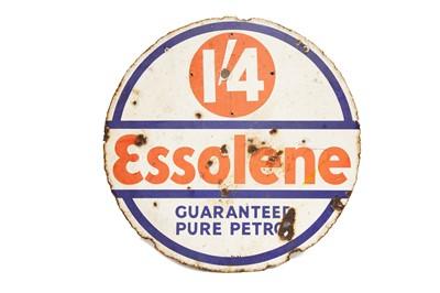 Lot 30 - Esso 'Essolene' Enamel Sign